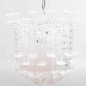Clear Murano Glass 'Ricci' Chandelier