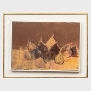 Roger Gerster (b.1939): Still Life with Pears