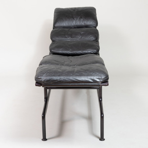 Eames Coated Metal and Leather 'Billy Wilder' Chaise