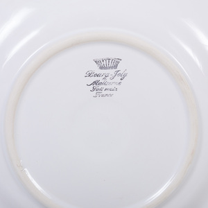 Bourg-Joly Malicorne White Glazed Earthenware Part Service