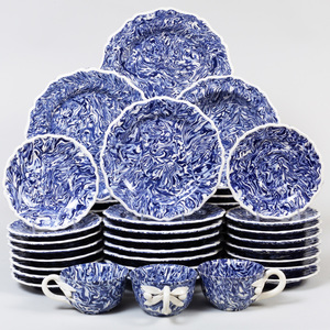 Extensive Pascale Mestre Blue and White Aptware Dinner Service