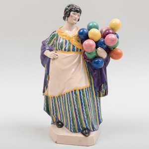 Charles Vyse Chelsea Pottery 'The Balloon Seller'