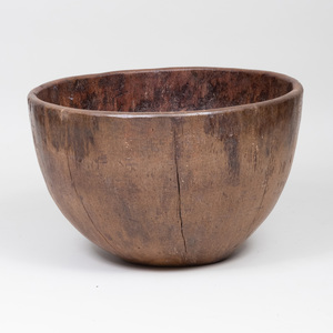 Large Rustic Wooden Bowl