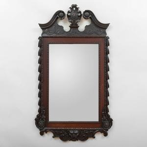George II Carved Mahogany Mirror, Irish