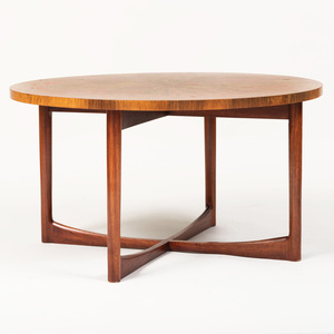 A.H. McIntosh & Co. Scottish Rosewood Circular Low Table