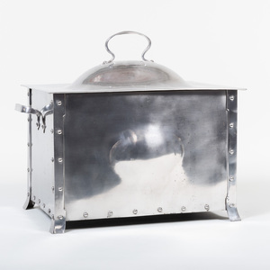 Steel Coal or Kindling Box after a Design by Liberty