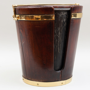 George III Mahogany and Brass Plate Pail