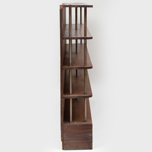 Art Deco Oak and Chromed Brass Bookcase, Attributed to Gilbert Rohde
