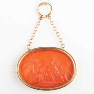 Neoclassical Carnelian Agate Intaglio of Ulysses Receiving the Winds from Aeolus