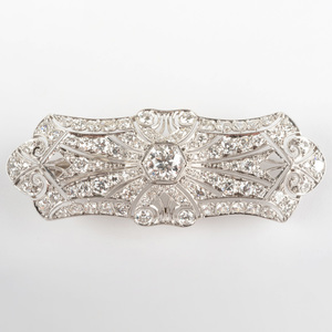 Edwardian Platinum and Diamond Brooch