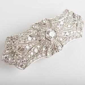 Edwardian Platinum and Diamond Brooch