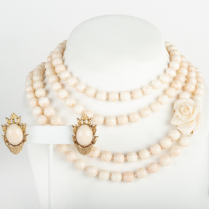 Group of Pale Pink Coral Jewelry
