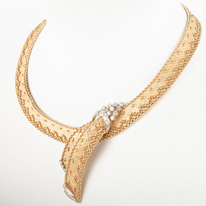 14k Gold and Diamond Necklace
