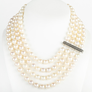 Four Strand Cultured Pearl Necklace