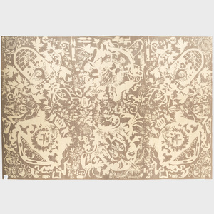 Modern Nepalese Pile Carpet, Designed by Ryan McGinness