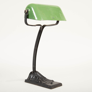 Niam Cast Metal Green Enamel Banker's Lamp