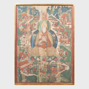 Thangka of a Gelung Lama
