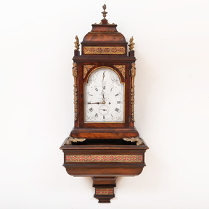 Fine George III Gilt-Metal-Mounted Mahogany Bracket Clock and Bracket, Dial Signed Salmon, Piccadilly