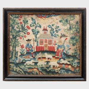 Unusual Charles II Needlework Panel