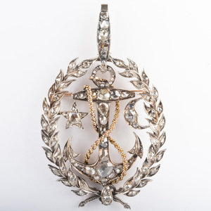 Georgian Silver-Gilt Diamond Pendant/Brooch