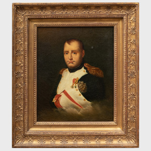 After Emile-Jean-Horace Vernet (1789-1863): Portrait of Napoleon I, Wearing the Cross and Plaque of the Légion d 'Honneur and the Cross of the Order of the Iron Crown