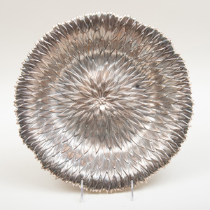 Large Buccellati Silver Circular 'Anemone' Dish