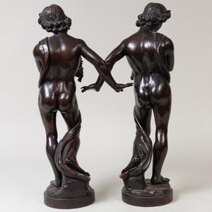 Pair of Italian Carved Wood Figures
