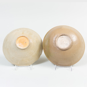 Two Chinese Celadon Glazed Porcelain Bowls