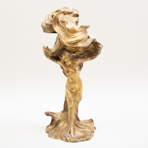 Raoul François Larche (1860-1912): Loïe Fuller, Modeled as a Lamp