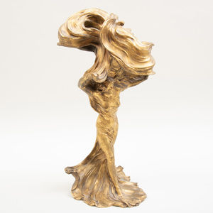 Raoul François Larche (1860-1912): Loïe Fuller, Modeled as a Lamp
