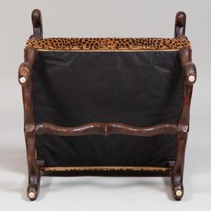 Louis XIV Style Walnut Fauteuil à la Reine