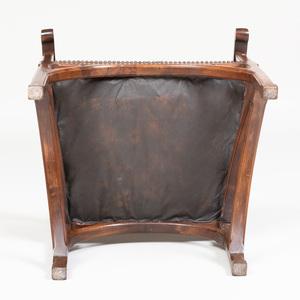 French Art Nouveau Walnut Armchair