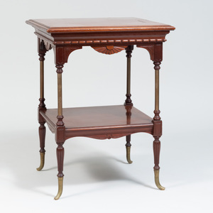 American Aesthetic-Movement Mahogany Two-Tier Side Table