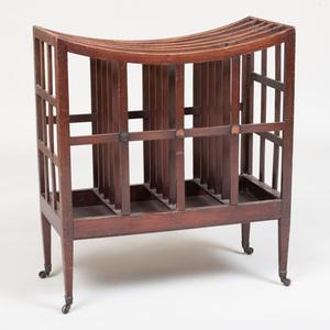 Large Regency Mahogany Folio Stand