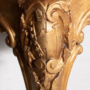 Fine Italian Rococo Giltwood Settee, Roman