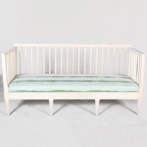 Swedish Neoclassical White Painted Settee