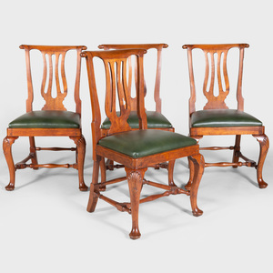 Four George II Style Mahogany Side Chairs