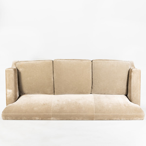 Custom Made Three Seat Upholstered Sofa, After a Model by Jean Michel Frank