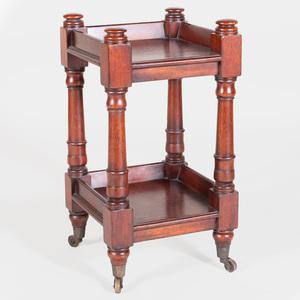 Custom Made Oxford Mahogany Trolley Table