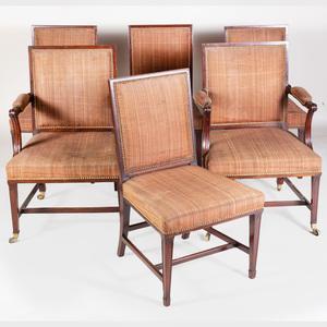 Set of Six George III Mahogany Dining Chairs