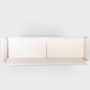 Modern White Muslin Upholstered Sofa, Attributed to Billy Haines