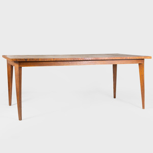 Modern Large Stained Oak Dining Table