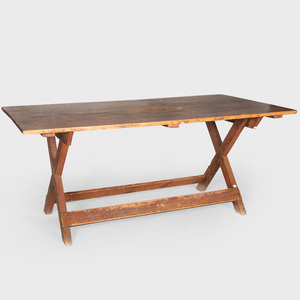 American Pine X-Form Trestle Table