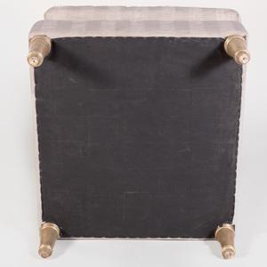 Modern Silver-Gilt and Upholstered Slipper Chair