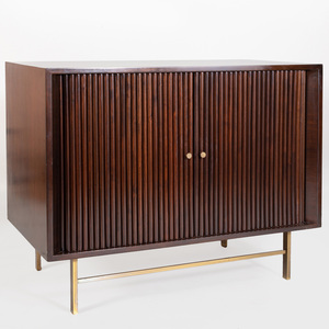 Mid Century Modern Ebonized Side Cabinet