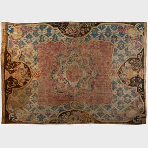 Louis XV Fragmentary Carpet, in the Savonnerie Technique
