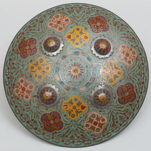 Indian Cloisonné Enamel Shield