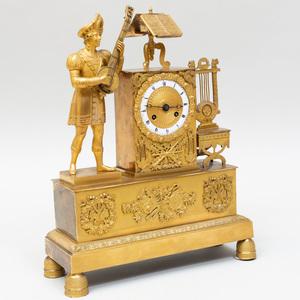 Empire Ormolu Mantel Clock
