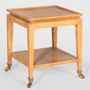 Modern Ocher Lacquer Telephone Table