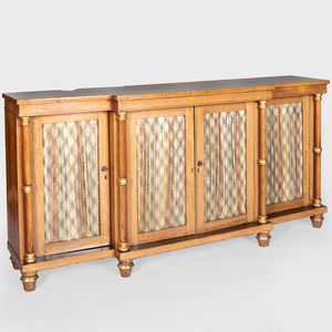 Regency Rosewood and Parcel-Gilt Side Cabinet